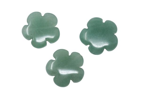 Green Aventurine Polished 20mm Flower