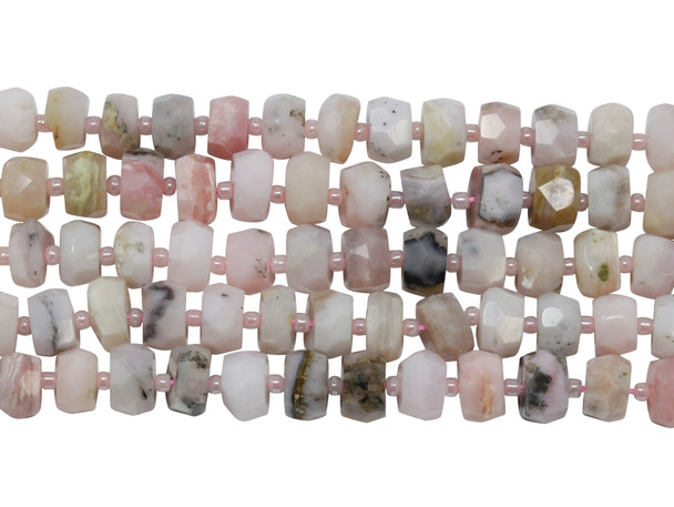 Pink Opal Grade A Polished 6x10mm Faceted Rondel