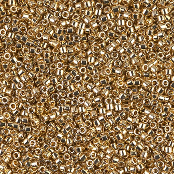 Delicas Size 11 Miyuki Seed Beads -- 034 Light 24K Gold Plated