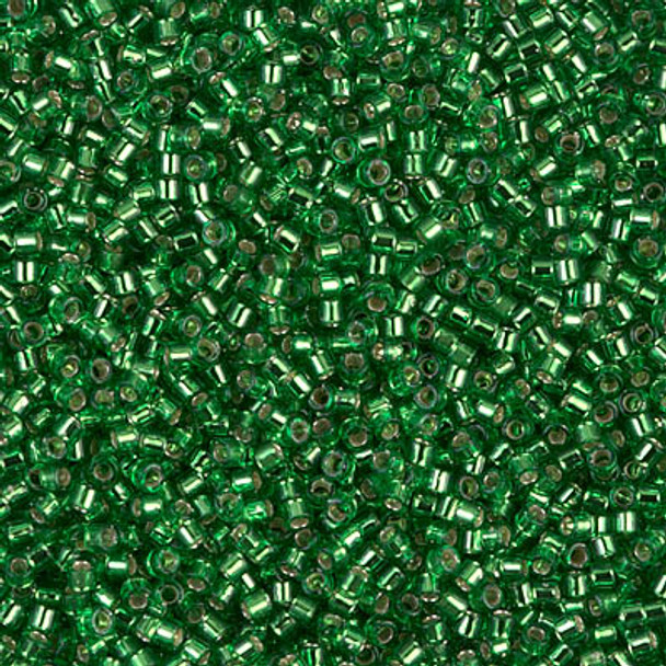 Delicas Size 11 Miyuki Seed Beads -- 046 Light Green / Silver Lined