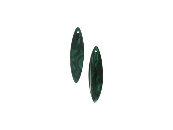 Malachite Polished 10x42mm Eye - Sold as Set