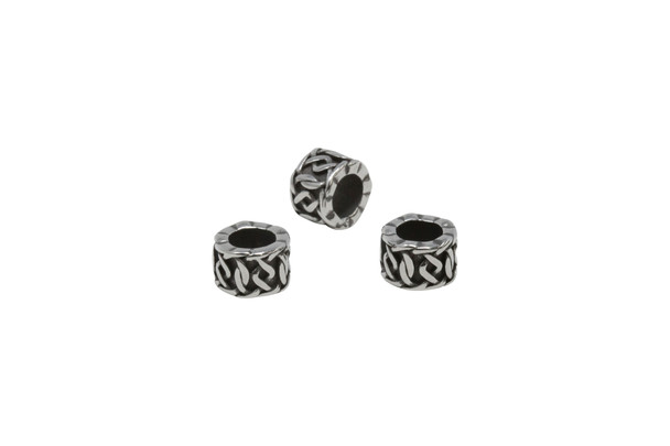 Stainless Steel 10x7mm Celtic Rope Tire