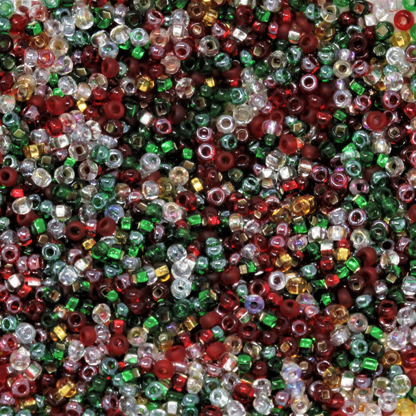 Size 11 Czech Seed Beads -- 1176 Deck the Halls