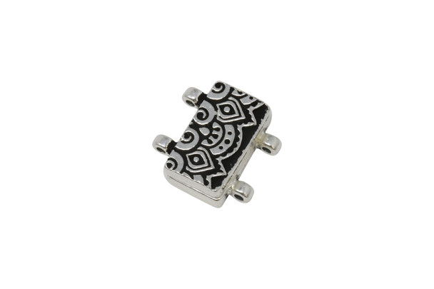 Magnetic Temple Clasp - Silver Plated
