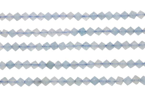 Aquamarine Polished 4mm Bicone