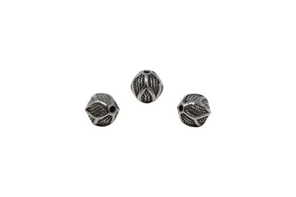 Stainless Steel 9.5mm Round Seed Pod Bead
