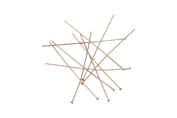 "14K Rose Gold Filled 1.5"" Long 24 Gauge Head Pins - 10 Pieces"
