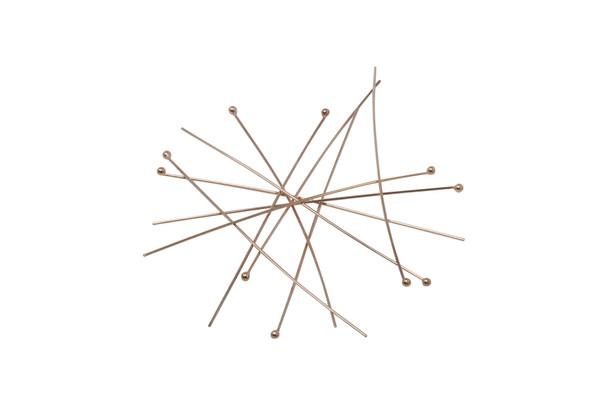 "14K Rose Gold Filled 2"" Long 24 Gauge Ball End Head Pins - 10 Pieces"