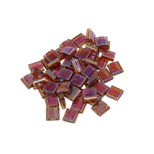 5mm Tila Beads -- Transparent Topaz AB