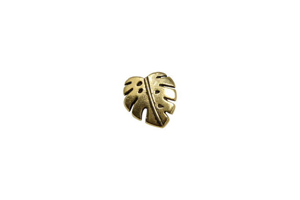 Monstera Button - Gold Plated