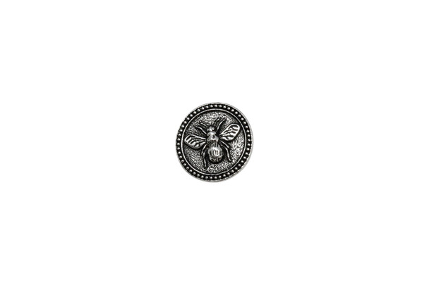 Bee Button - Silver Plated