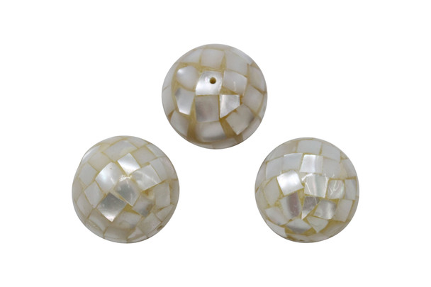 Mother of Pearl Oyster Mosaic 20mm Round