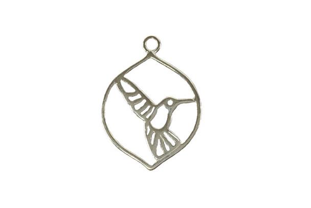 Framed Hummingbird - Sterling Silver
