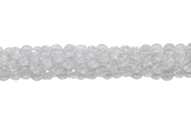 Crystal Quartz Polished 6mm Faceted Round - 64 Cut