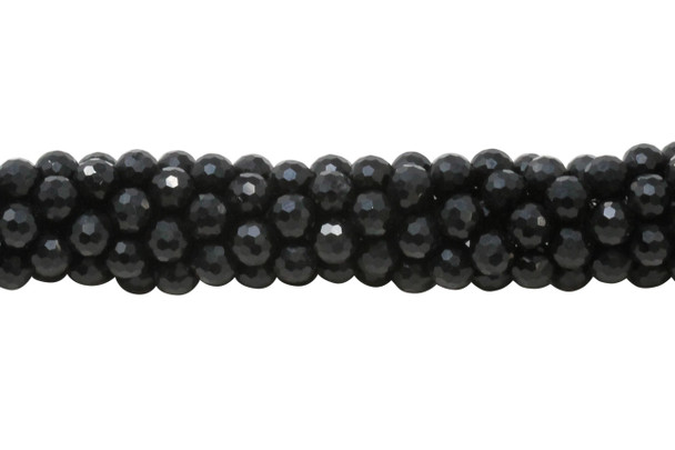 Black Spinel Polished 6mm Faceted Round