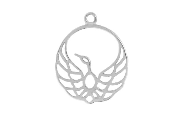 Amoracast Exclusive Sterling Silver Round Sprig Bead