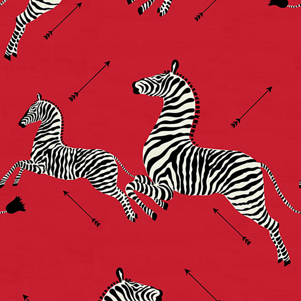 Scalamandre Fabric Zebras Outdoor Masai Red 36378 001