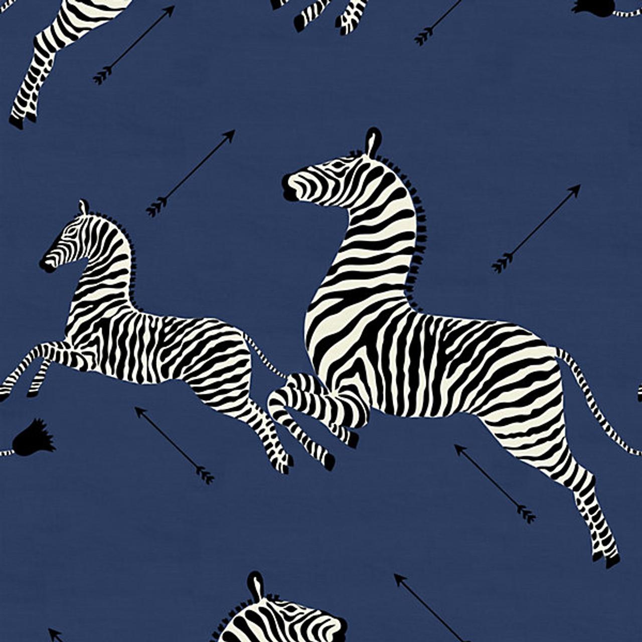 Scalamandre Fabric Zebras Outdoor Denim 36378 005 My