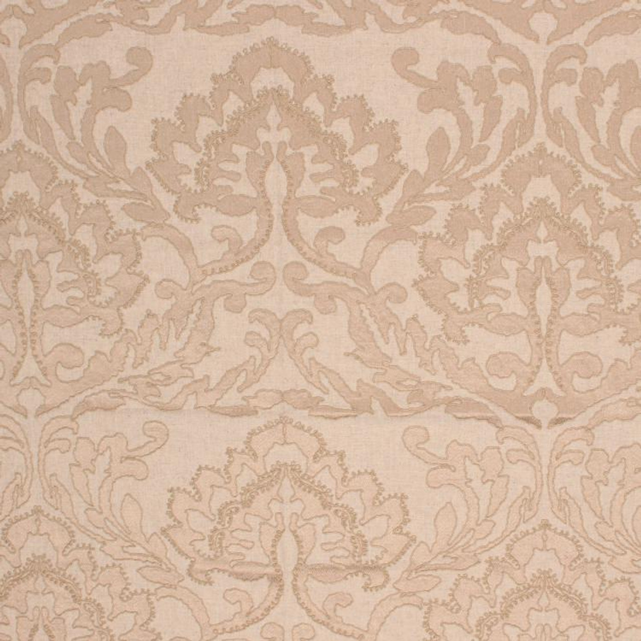 Rm Coco Fabric Positano Damask Flax My Fabric Connection