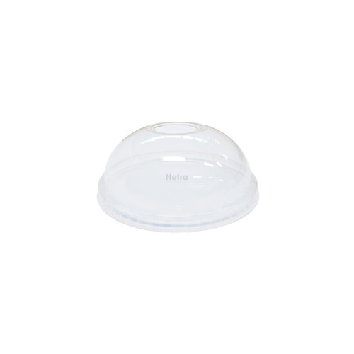 LID DOME (PET) - Clear [D92] 92mm - WITH HOLE / suits 11, 12 & 16oz 92mm PET Cold Cups