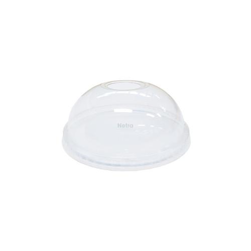 LID DOME (PET) - Clear - NO HOLE 98mm / suits 12oz -24oz PET Cold Cups