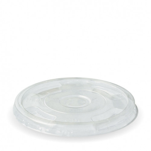 LID FLAT (PLA) - BIOPAK 76mm with NO Hole [C-76F] / suits 76mm Small BioCup Plastic (PLA), 60ml sauce & 150-280ml