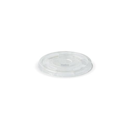 LID FLAT (PLA) - 96mm Straw Slotted - [C-96F]