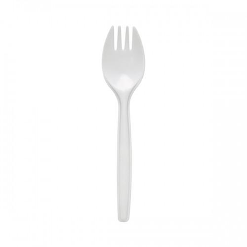 Plastic Sporks - WHITE