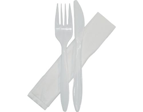 Cutlery Sets - (Plastic) Combination Packs - Knife Fork Napkin Set