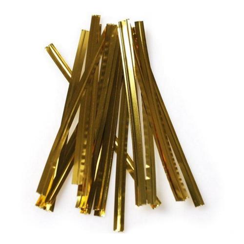 Bag Twist Ties - Gold - 1000/PKT .
