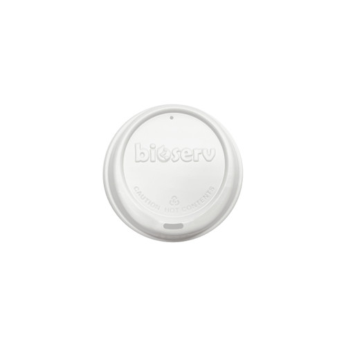 HOT LID SIPPER (Biodegradable) - 80mm WHITE [BIOSERV] to suit 6-8-10 & 12oz SLIM Hot Cups