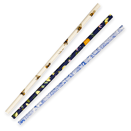 Straw (Paper) Regular - ART SERIES BioStraw - [JP-PBS-6X197-ART] - 197mm x 6mm Bore