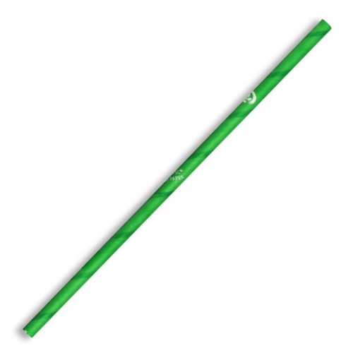 Straw (Paper) Regular - GREEN BIOSTRAW 197mm x 6mm Bore [JP-PBS-6X197-G]