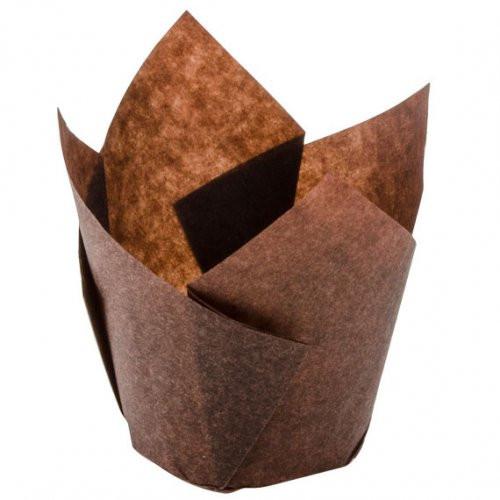 Muffin Cup / Tulip - 60mm x 175mm BROWN / CONFETA - [CP60/175]