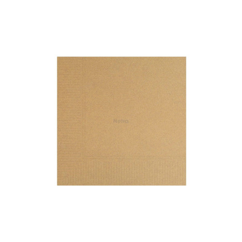 Napkin Lunch 1 Ply - Brown Natural 1/4 fold