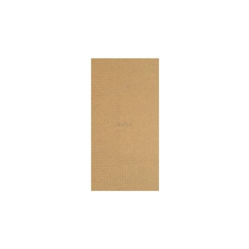 Napkin Lunch 1 Ply - Brown Kraft 1/8 fold - 3000/CTN