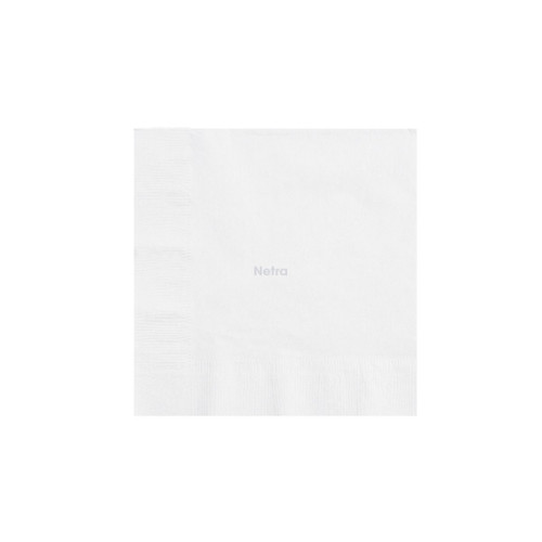 Napkin Lunch 1 Ply - White 1/4 fold