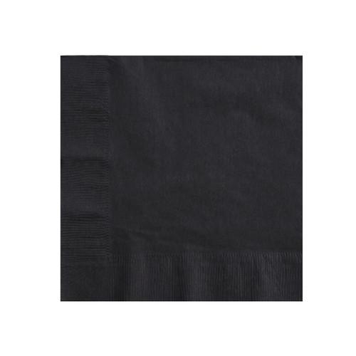 Napkin Dinner 2 Ply - Black 1/4 fold