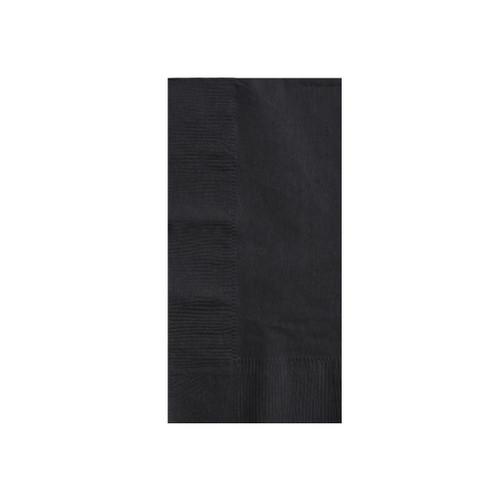 Napkin Dinner 2 Ply - Black 1/8 fold