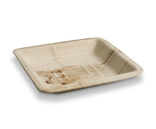 Palm Leaf - Plate Square Small 160mm - GREENMARK