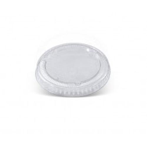 LID FLAT (PET) - 62ml Clear / suits 2oz (57ml) Sugarcane Sauce Bowls