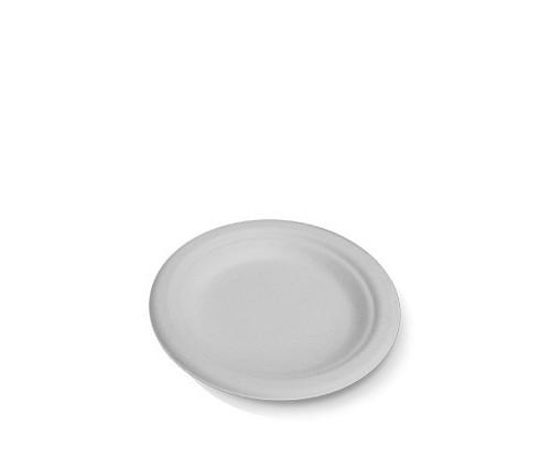 "Plate (Sugarcane) - Round 6"" (155mm) - Biodegradable"