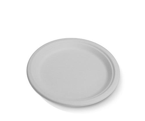 "Plate (Sugarcane) - Round 9"" (225mm) - Biodegradable BIOSERV"