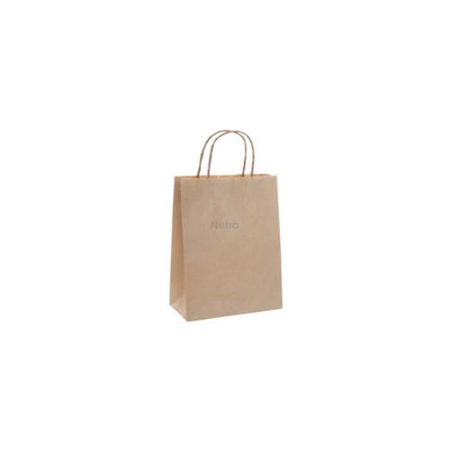 Carry Bag - Brown Kraft Plain with BROWN Twist Handle - BABY