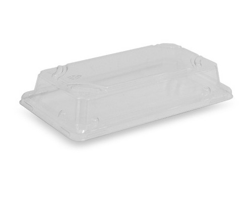 LID RAISED (PET) - GREENMARK / suits Bamboo Sushi Tray SMALL