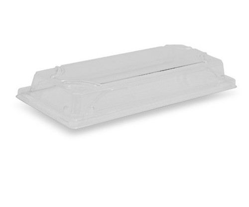 LID RAISED (PET) - GREENMARK / suits Bamboo Sushi Tray LONG
