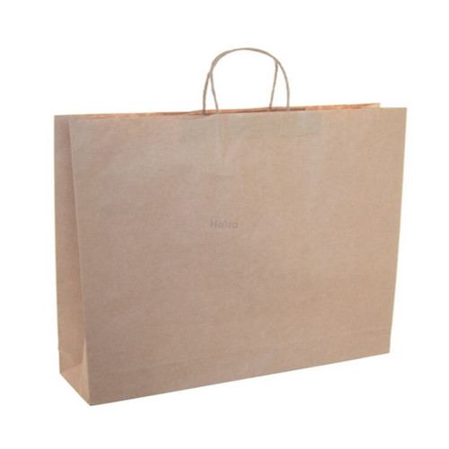 Paper Carry Bag Brown with Twist Handle - BOUTIQUE
