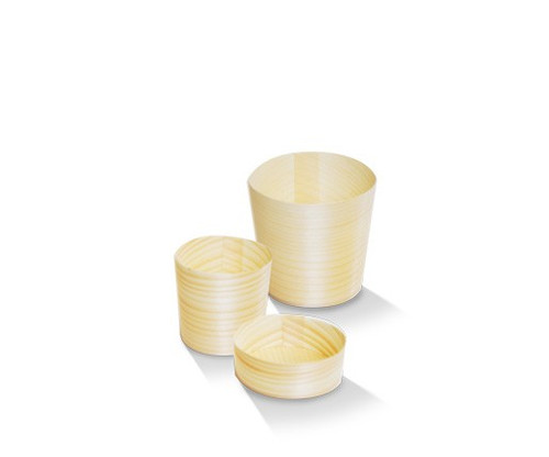 Wooden Pine Cups - Large / 58x58mm