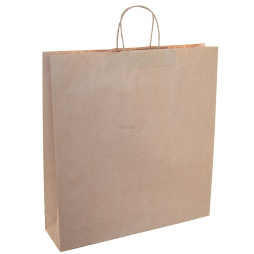 Paper Carry Bag Brown with Twist Handle - Large