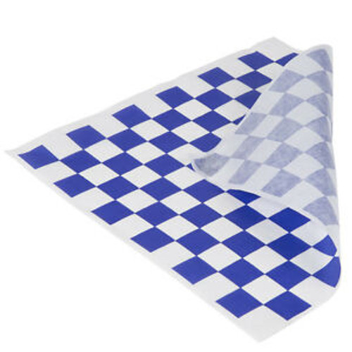 Greaseproof Paper Checkered BLUE & White - 1/2 Cut [2 Out] 400x330mm